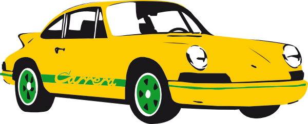 600x243 Car Clipart Porsche