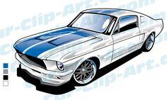 236x141 1965 Ford Mustang Clip Art Art By Hotrodkristina