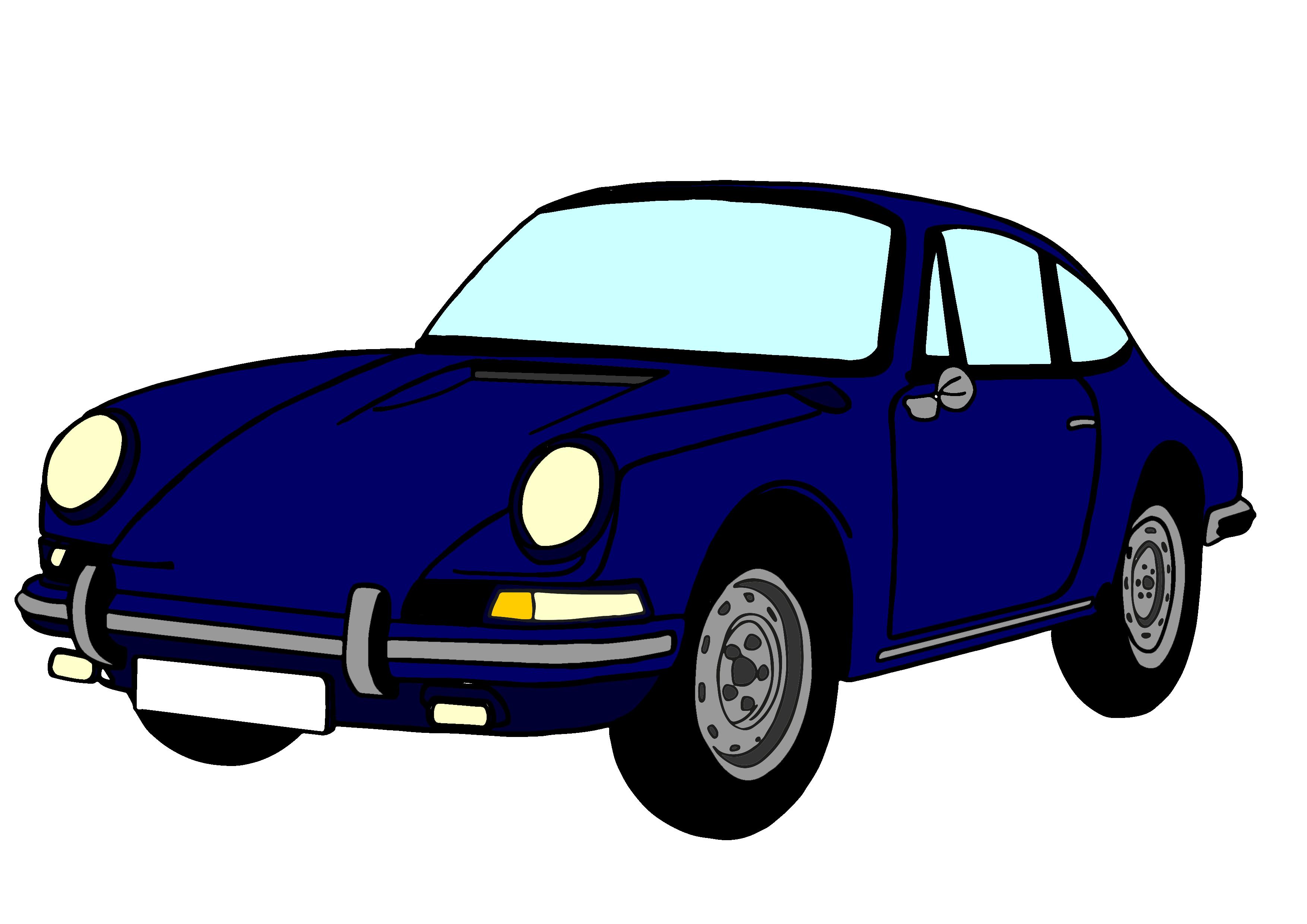 3508x2480 Free Porsche Cartoon Clipart