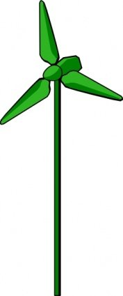 177x425 Energy Positive Wind Turbine Green, Vectors