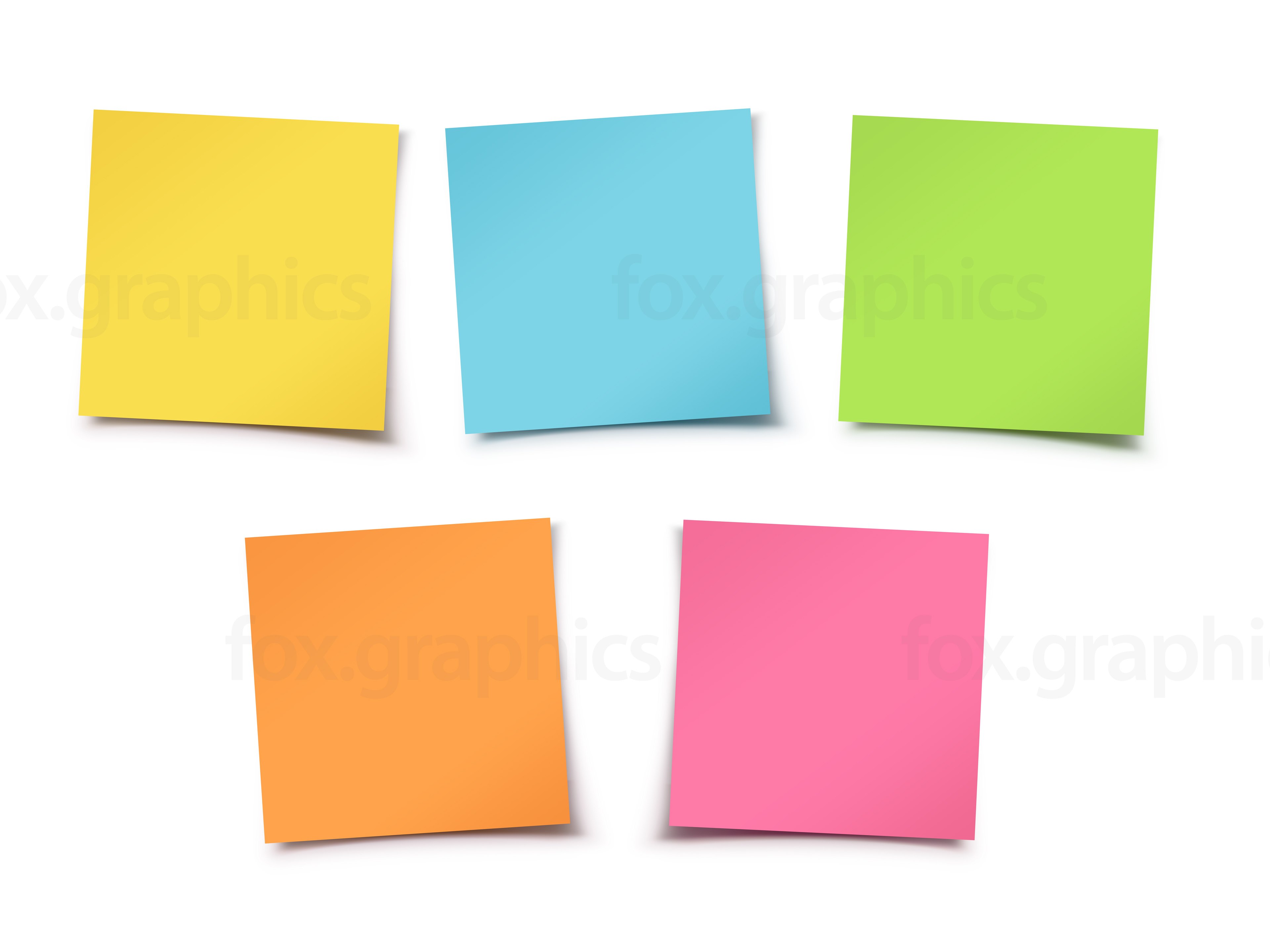 3840x2880 Colorful Sticky Notes