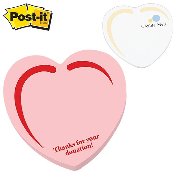 600x600 Promotional Post It Shape Heart Shape Large Sticky Note