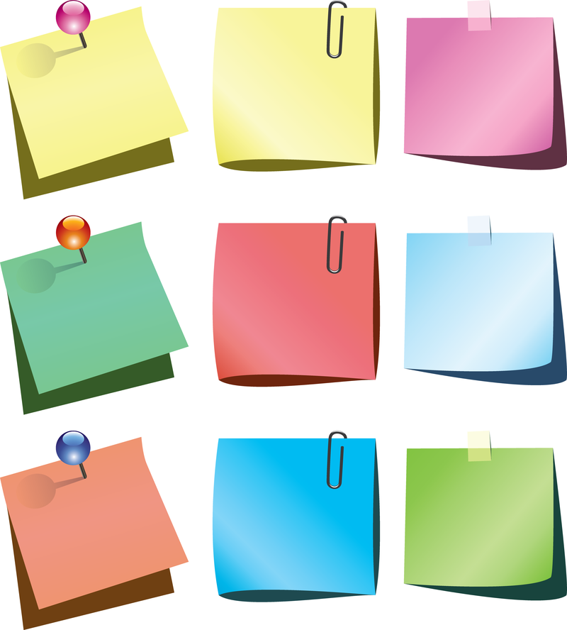 800x888 Isolated Colorful Post It Set