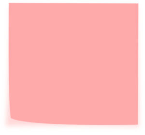 300x279 Post It Clipart Pink