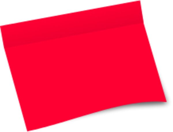 600x460 Post It Clipart Red