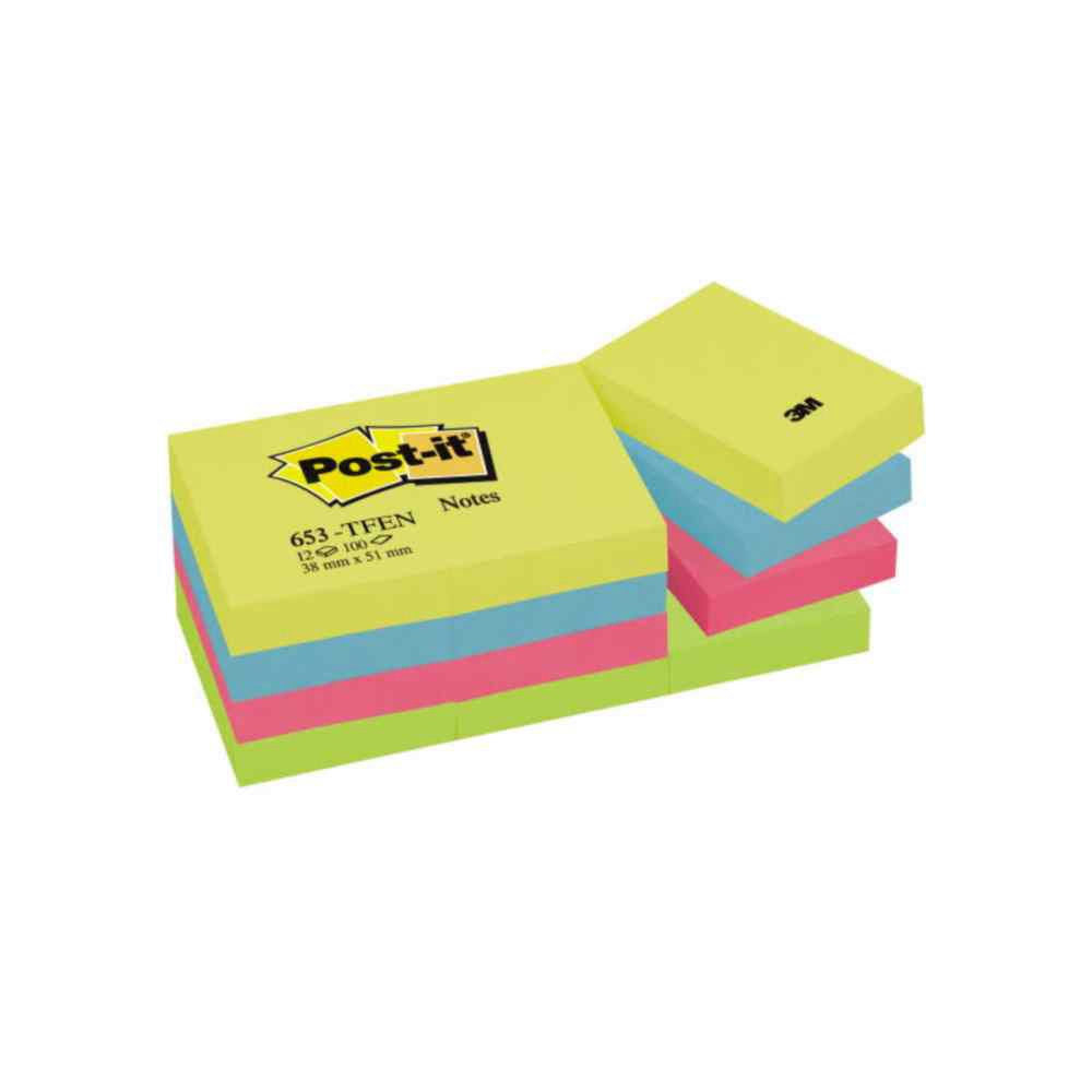 1000x1000 Post Recycled Sticky Notes Tower 38 X 51 Mm, Yellow, Pack Of 6