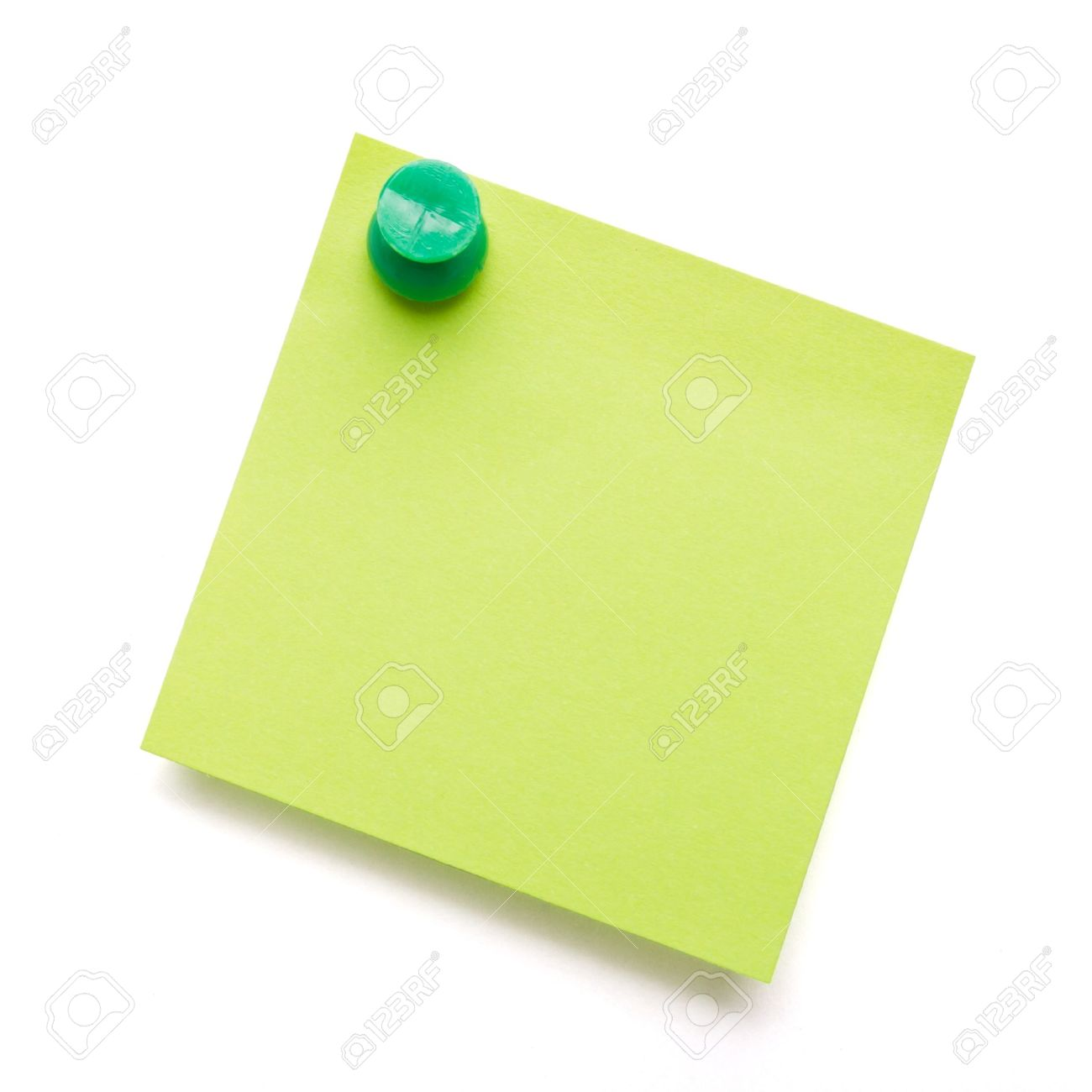 1300x1300 Green Self Adhesive Post It Note With Green Push Pin On White