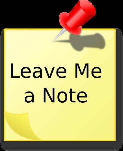 409x500 Leave Me A Note'' Message Public Domain Vectors