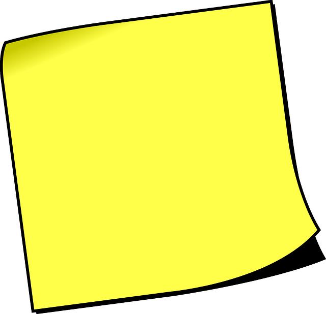 Postit Note Clipart | Free download best Postit Note ...