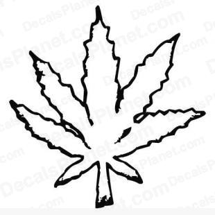 310x310 Weed Leaf (Pot Leaf) Decal, Vinyl Decal Sticker, Wall Decal