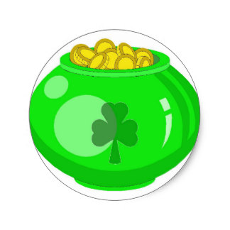 324x324 Pot Of Gold Stickers Zazzle.co.uk