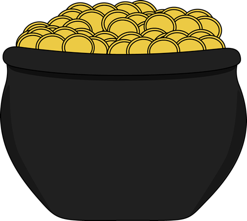 500x447 Pot Of Gold Clipart No Background Clipartfest