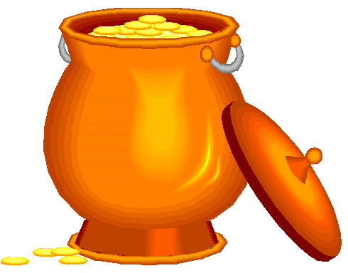 490x384 Pot Of Gold With Rainbow Clipart Clipart