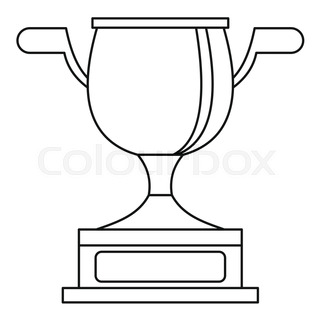 320x320 Gold Cup For Championship Icon. Outline Illustration Of Gold Cup