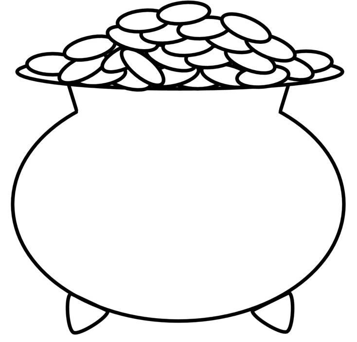Pot Of Gold Outline | Free download best Pot Of Gold Outline on ...