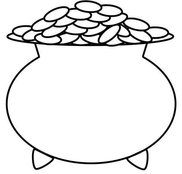 600x574 A Kids Drawing Of Pot Of Gold Coloring Page A Kids Drawing Of Pot
