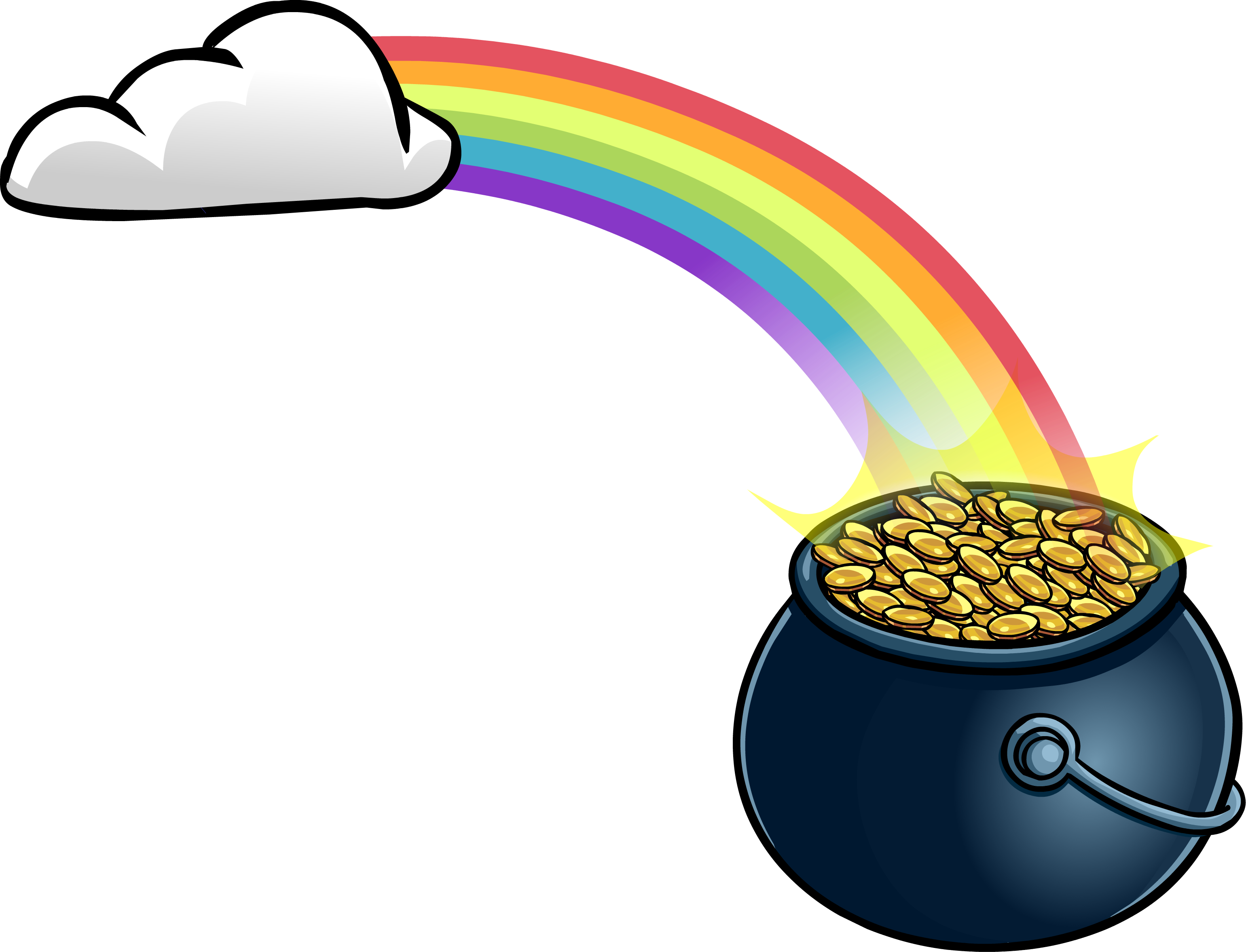 pot of gold rainbow clipart free download best pot of St Patrick's Day Pot of Gold Clip Art Pot of Gold Clip Art