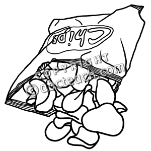 300x300 Clip Art Potato Chips Clipart
