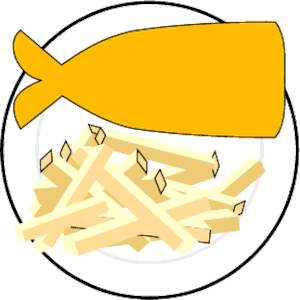 300x300 Fish And Chips Clipart Free