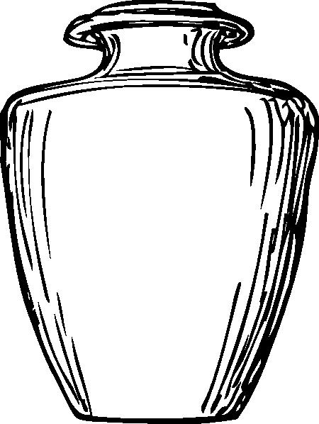 450x598 Vase Clipart Black And White