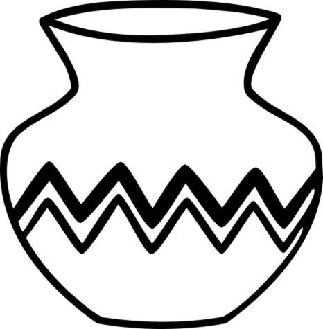 466x475 Ceramic Clipart Native American