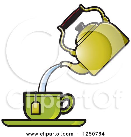 450x470 Pouring Tea Clipart