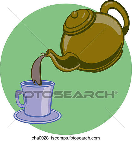 438x470 Stock Illustration Of A Teapot Pouring Tea Into A Cup Cha0028
