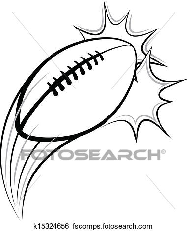 381x470 Clip Art Of Football Pow K15324656