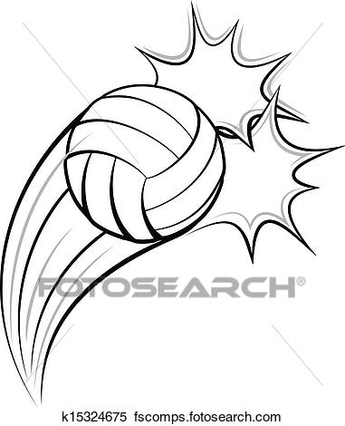 381x470 Clipart Of Volleyball Pow K15324675