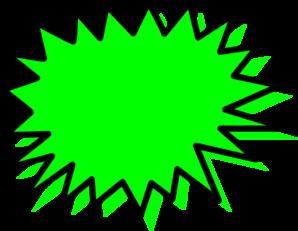 298x231 Green Explosion Blank Pow Clip Art