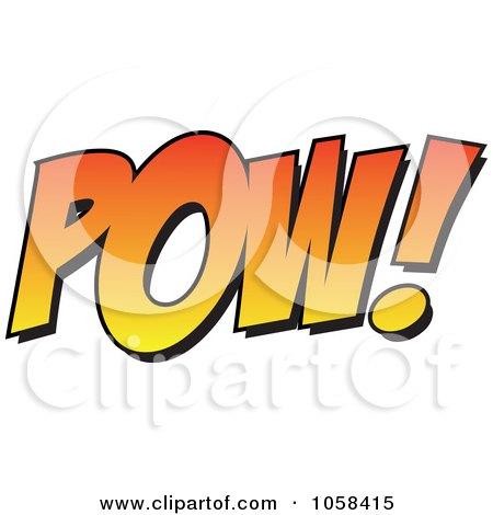 450x470 Royalty Free Vector Clip Art Illustration Of A Cartoon Pow By