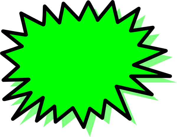 600x465 Green Explosion Blank Pow Clip Art