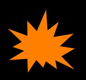 300x279 Orange Comic Pow Clip Art