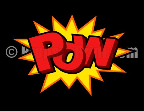 458x354 Printable Pow Comic Book Photo Booth Prop. Create Diy Props