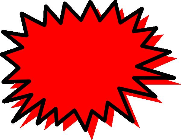 600x465 Red Explosion Blank Pow Clip Art