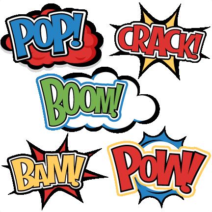 432x432 Superhero Words Clipart