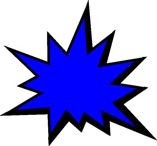 600x557 Blue Comic Pow Png, Svg Clip Art For Web