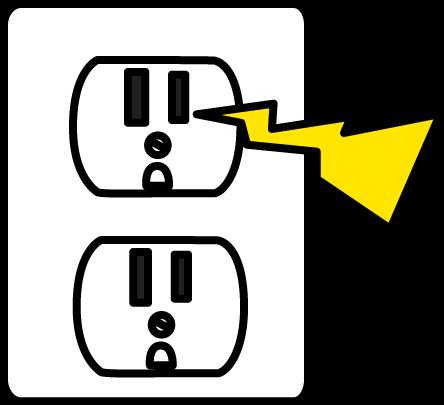 444x405 Cliparts Power Socket 194042