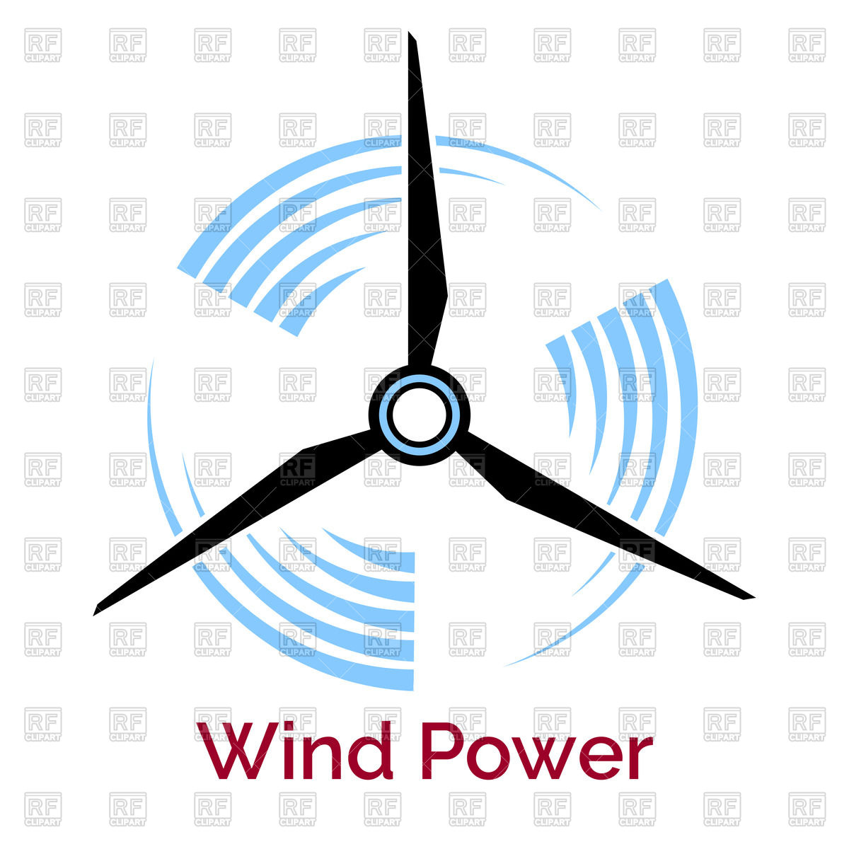 1200x1200 Company Logo With Wind Turbine And Slogan Wind Power Royalty