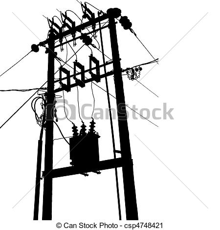 450x470 Power Line Clipart Electrical Transformer