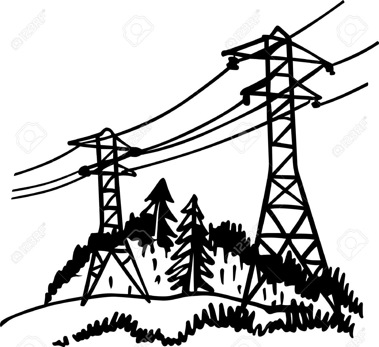 1300x1193 Power Line Clipart High Voltage