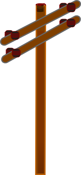 276x590 Power Line Clipart Utility Pole