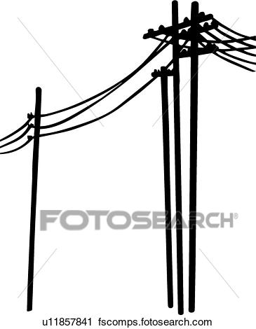 365x470 Clipart Of Power Lines U11857841