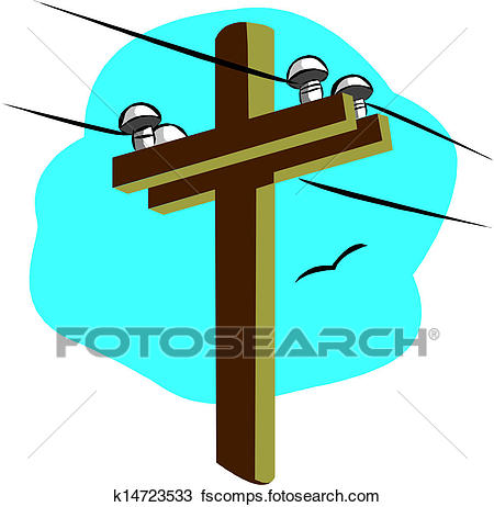 450x462 Clipart Of Power Line K14723533