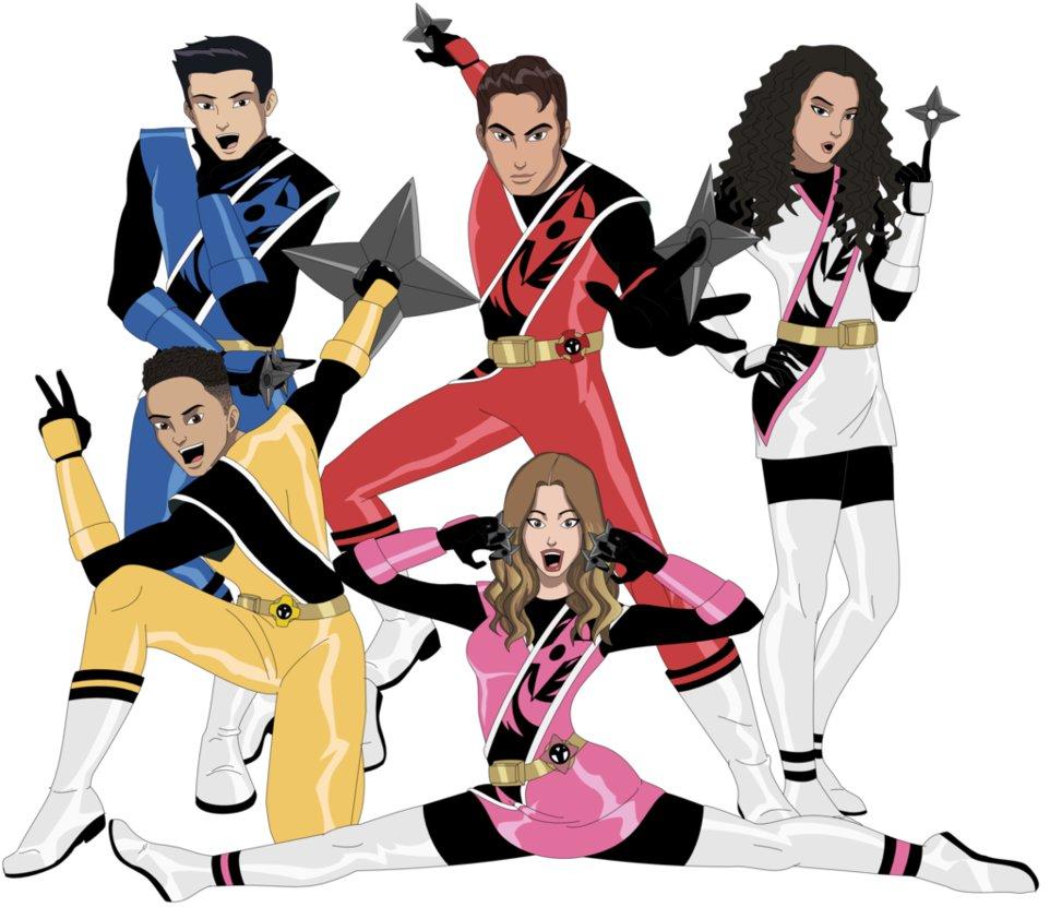 962x831 Power Rangers Ninja Steel Cast By Amtmodollas