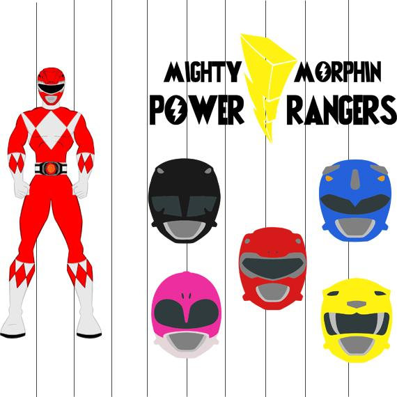 570x570 Power Rangers Svg Clipart Png Eps Files Power Rangers Cut