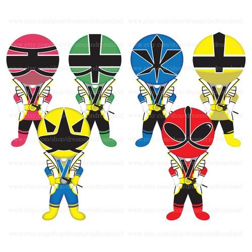 500x500 50% Off Superhero Samurai Ranger Pdf Png Clip Art Digital File