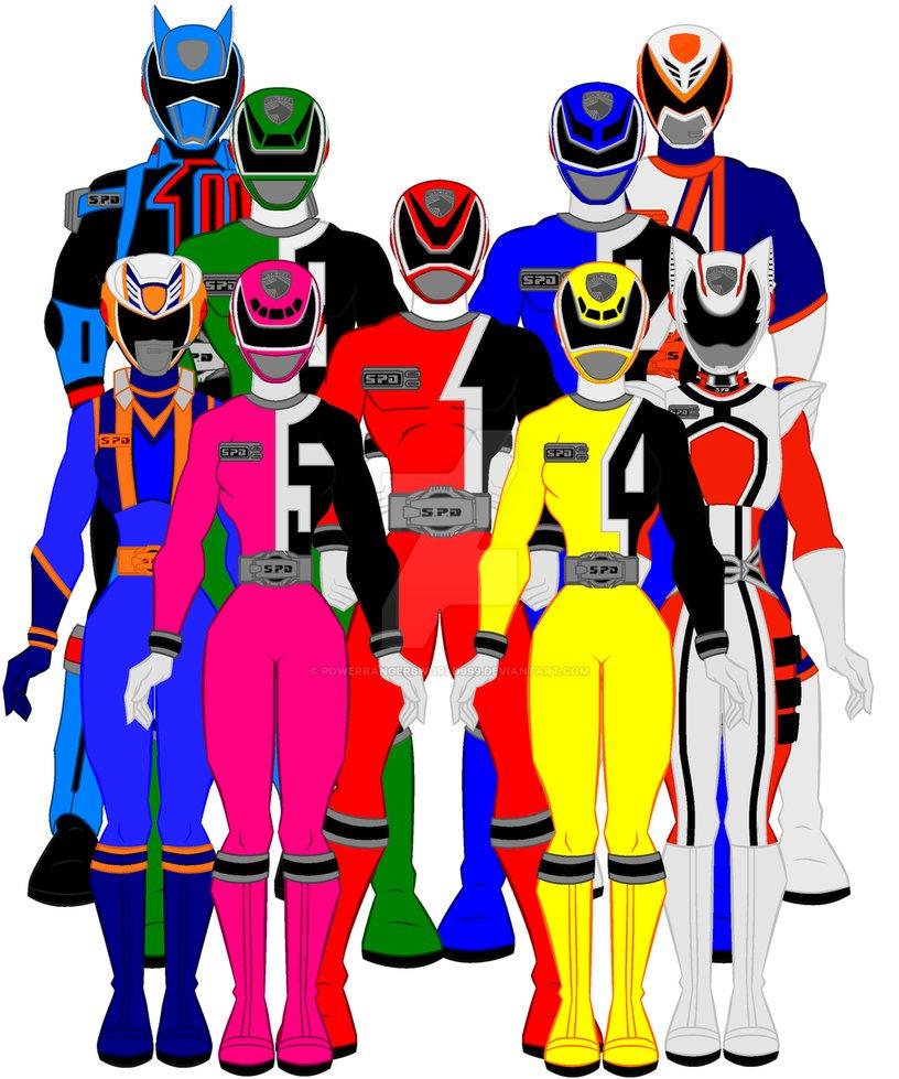816x979 13. Power Rangers Spd By Powerrangersworld999