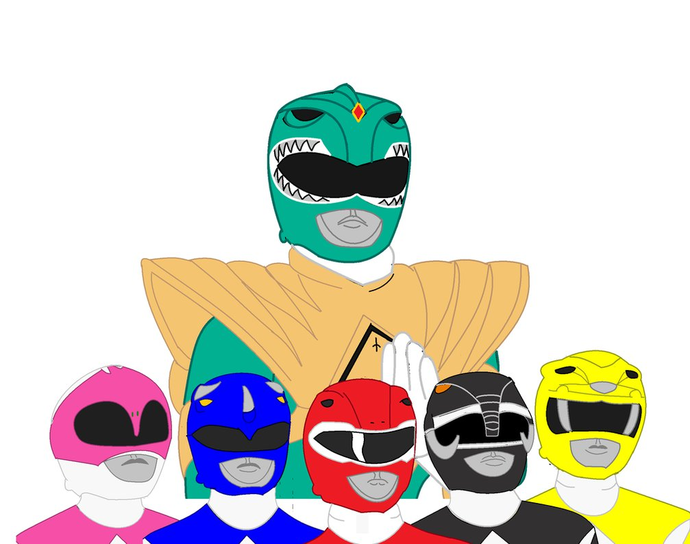 1007x794 Mighty Morphin Power Rangers Group Shot By Cam And Sister Paint