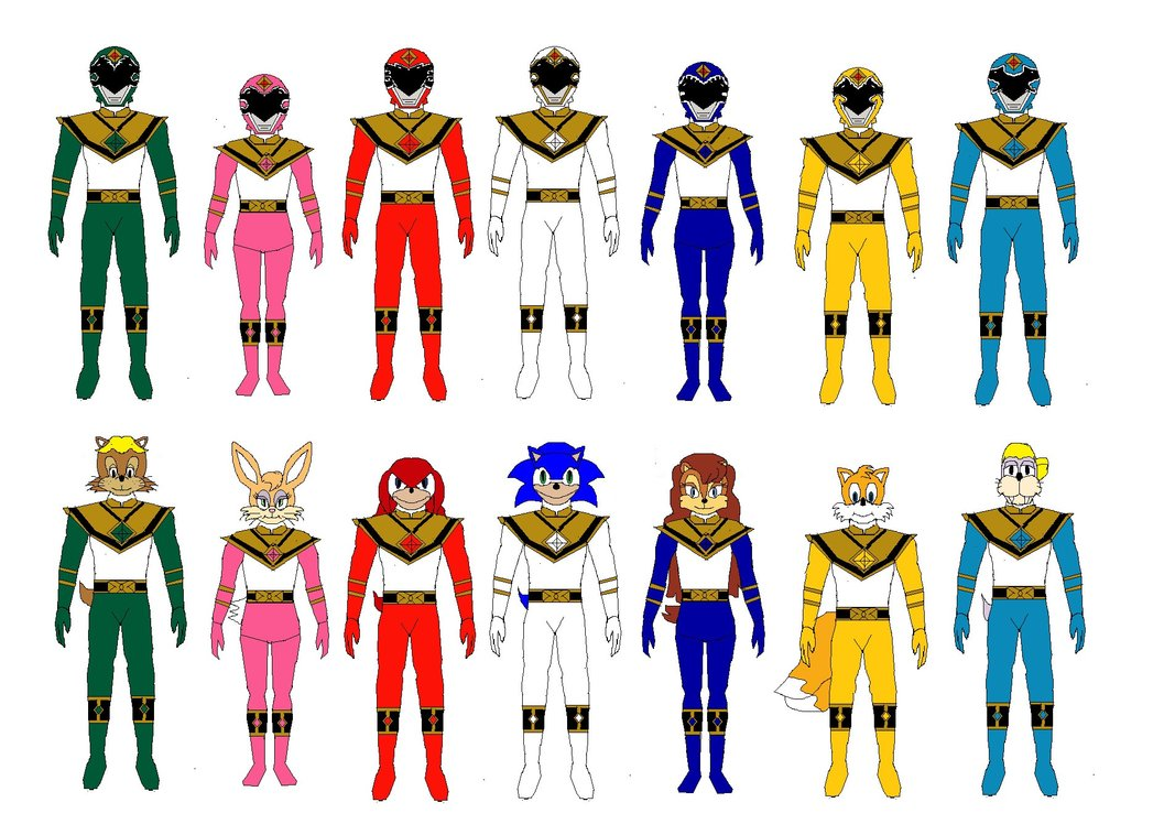 1067x748 Power Rangers Emerald Charge New Look By Burningmario234